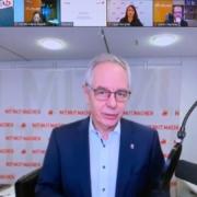 Michael Vassiliadis, IG-BCE-Vorsitzender, in der Online-Konferenz mit 50Hertz und Repräsentanten aus Wirtschaft, Politik und Gesellschaft.