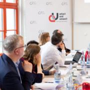 Stiftung Arbeit und Umwelt der IG BCE; Fachgespräch: Arbeit und Beschäftigung in der Zange? Doppelter Druck durch Digitalisierung und ökologischer Transformation auf die berufliche Anpassung in der deutschen Industrie. Foto: ©Andrea Vollmer
