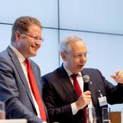 """Veranstaltung; """"Transformation der Industrie vor der Herausforderung des Klimawandels""""; Agora Energiewende und die Stiftung Arbeit und Umwelt der IG BCE; Microsoft Atrium Berlin;"""